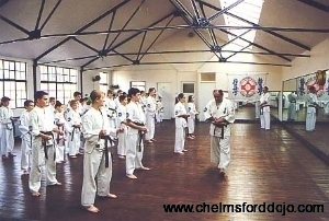 Hanshi at Chelmsford Dojo (old)