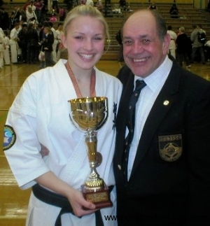 2006  British Kata Championships Becky and Hanshi