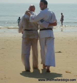 Beach training 2006 Shihan and Sanpai Paul