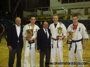 Shihan, Paul, Hanshi, Aaron and Senpai Jared with trop